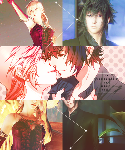 Lightning X Noctis Characters Final Fantasy