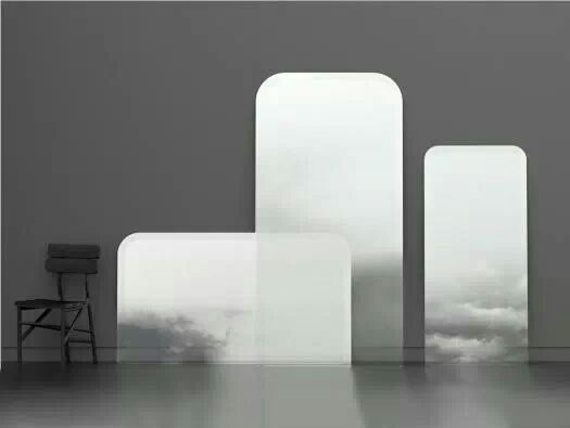 Hallow clouds mirrors
