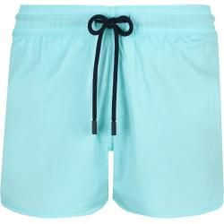 Photo of Men's swimwear – short and figure-hugging solid stretch swimwear for men – swim shorts – man – blue