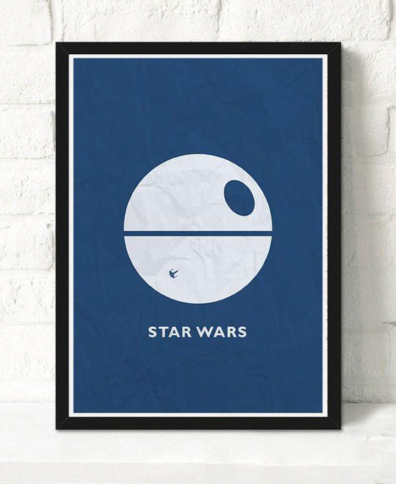 Star Wars Minimalist movie print by ThInkMedia on Etsy