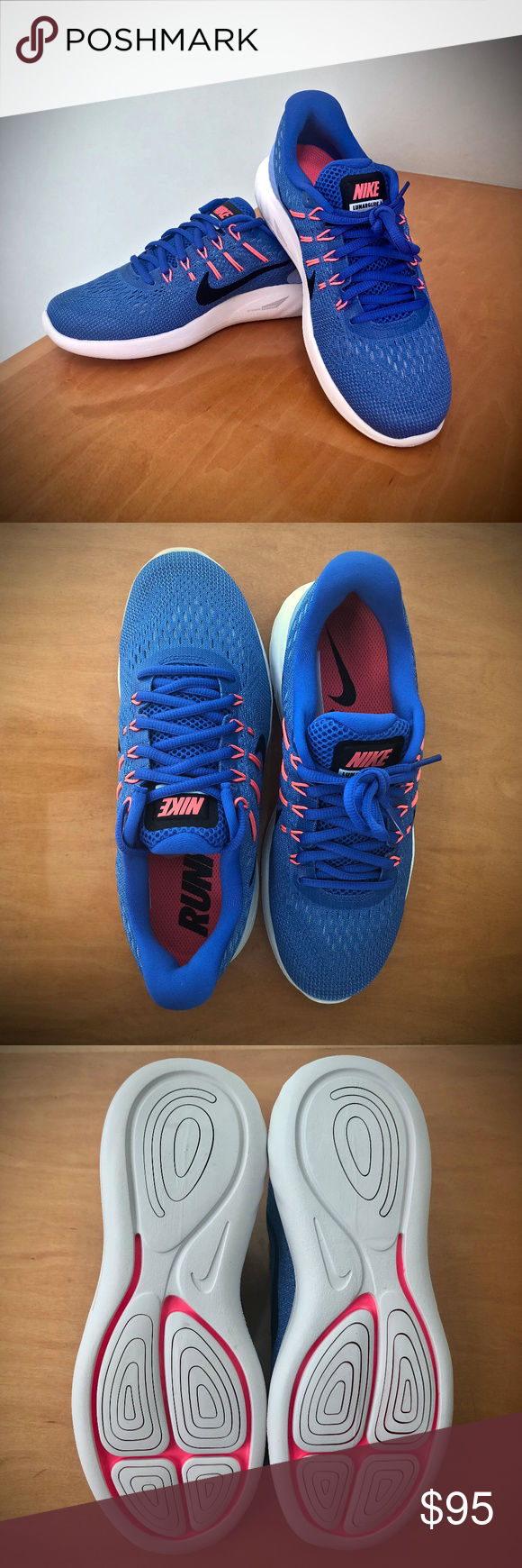 4768ede7131e NWT Nike Lunarglide 8 Running Shoe in Bright Blue NWT