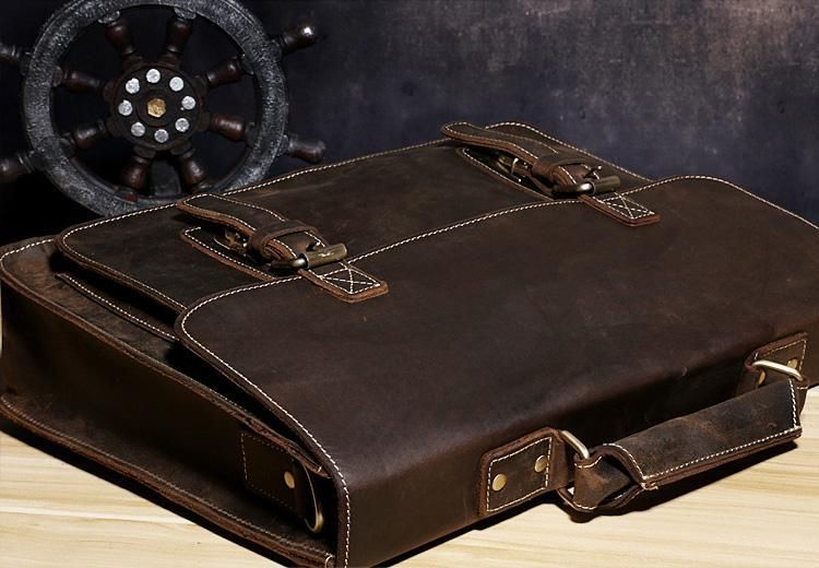 e0d90d34d92e Genuine Leather Mens Cool Messenger Bag Briefcase Chest Bag Bike Bag C –  iChainWallets