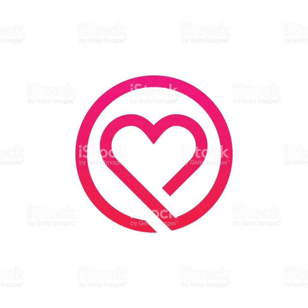 Abstract love logo sign minimalistic icon vector design illustracion libre de derechos libre de derechos