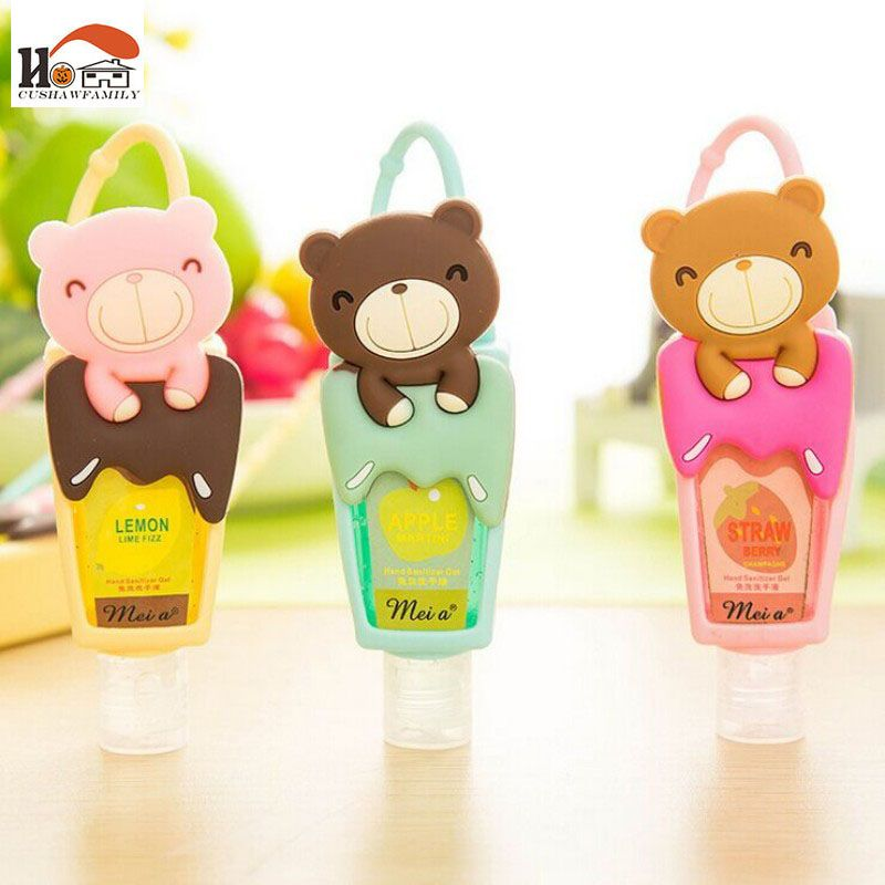 1pcs Cute Teddy Bear Hung Travel Portable Mini Plastic Hand