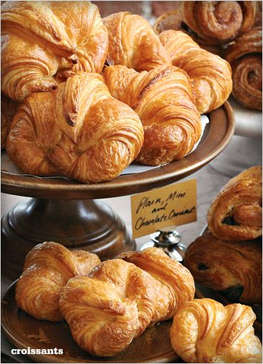 """Croissants, or as they say in France, """"croissants."""" YUMM ME"""