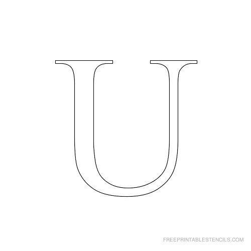 Printable Times New Roman Alphabet Stencil B Crafts Pinterest - new letter format extension time