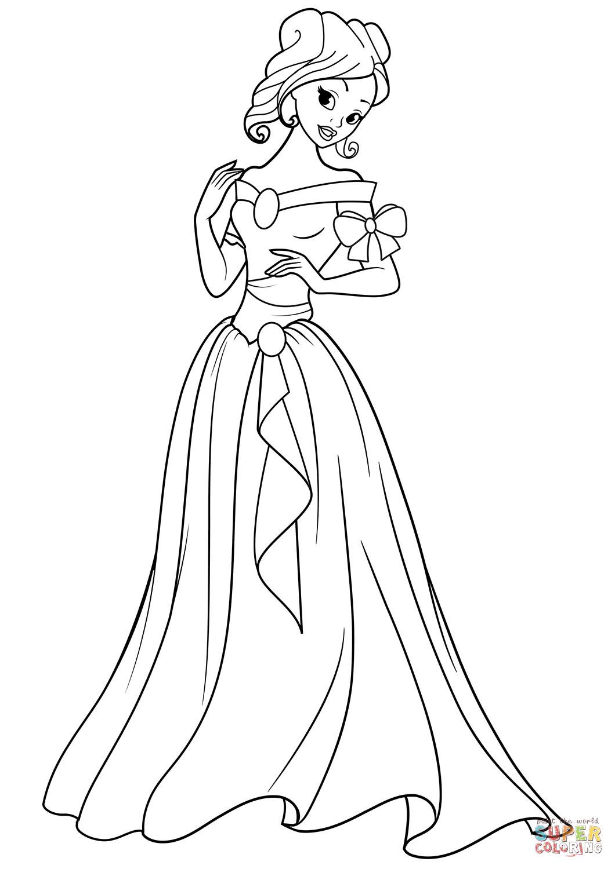 Beautiful Princess  Super Coloring  Malvorlage prinzessin