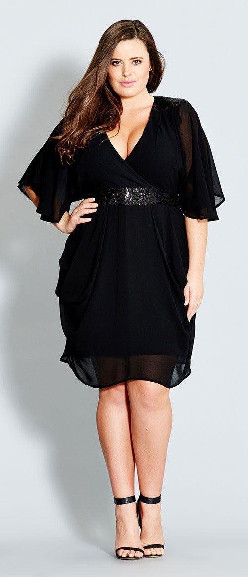 27 plus size party dresses with sleeves vetement femme grande taille tenues de f te et. Black Bedroom Furniture Sets. Home Design Ideas