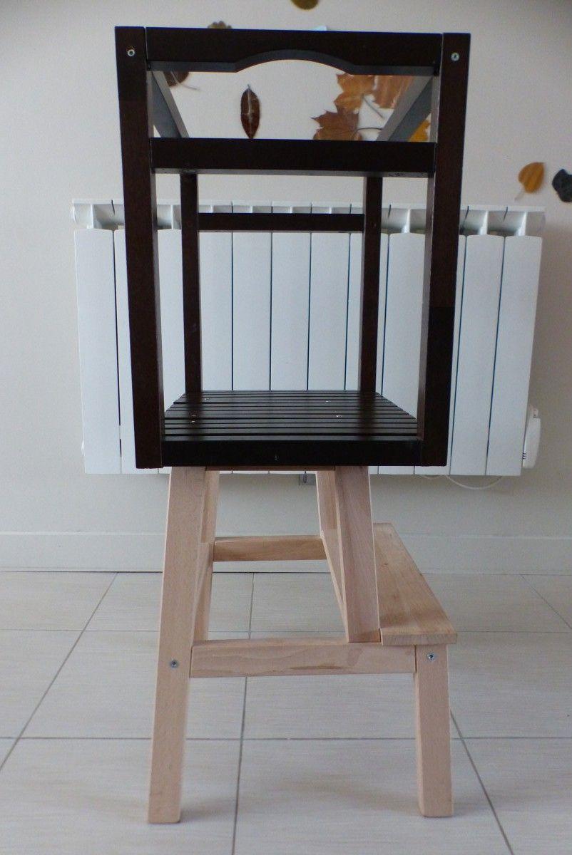tour d apprentissage diy avec bekvam tabouret tour et marche pied. Black Bedroom Furniture Sets. Home Design Ideas