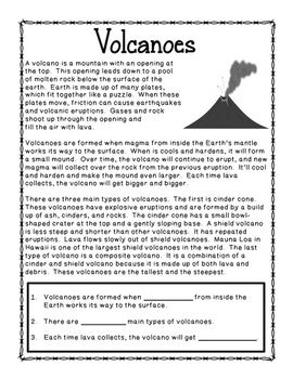 Natural Disasters Science Unit Reading Passages And Activities Explanation Writing Natural Disasters Reading Passages