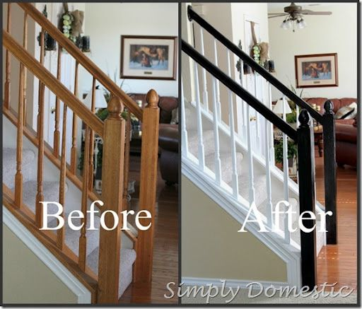 Best Painting Our Banister Simply Domestic Staircase Makeover Home Remodeling Renovation 640 x 480