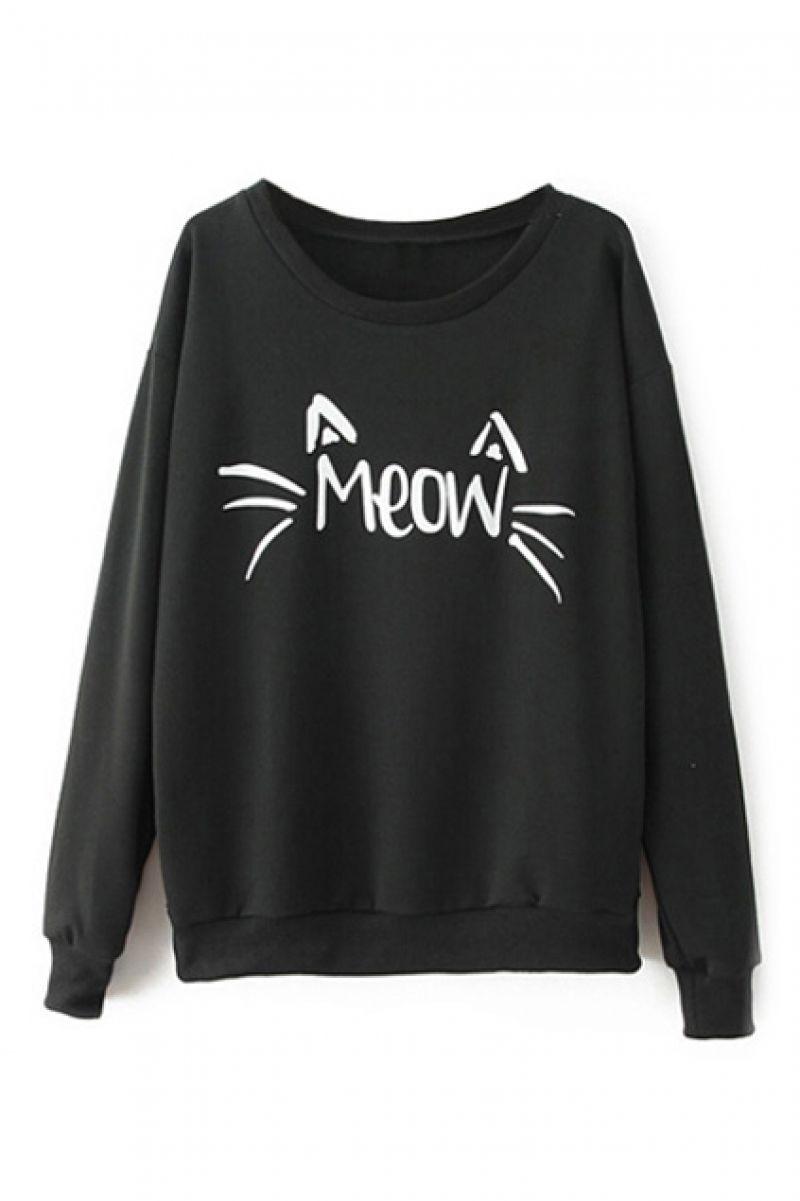 Black & White unisex Embroidered Ladybird Halloween Sweatshirt v1Fcso