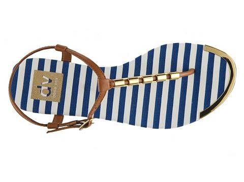 Nautical DV by Dolce Vita Caspian Striped Sandal Sandals Women's Shoes - DSW
