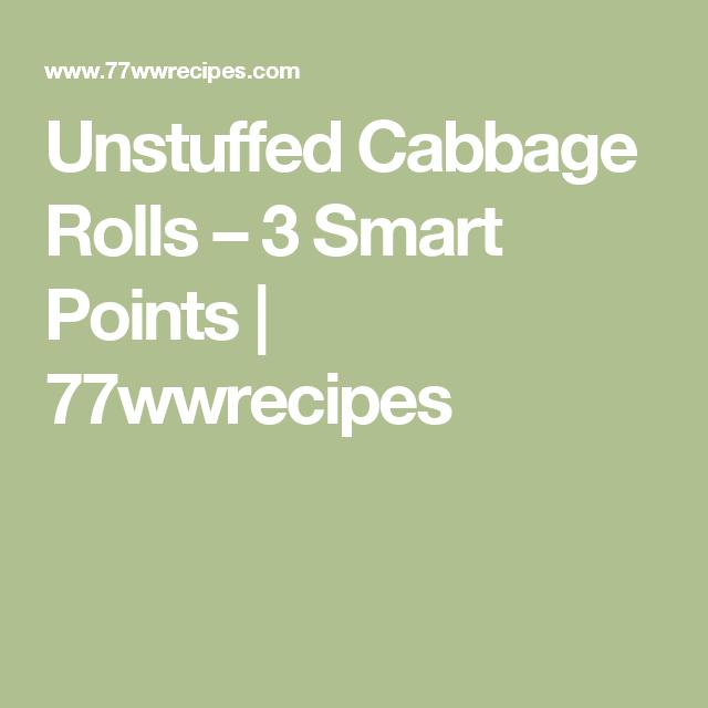 Unstuffed Cabbage Rolls – 3 Smart Points | 77wwrecipes