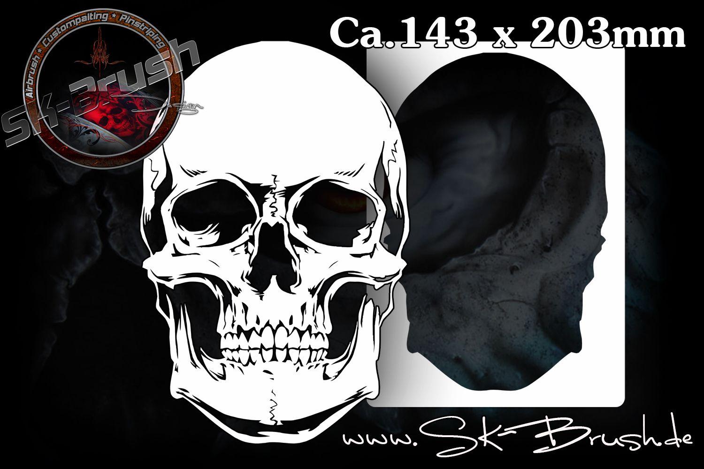 airbrush schablone f r sch del totenk pfe skull 39 s kopf skulls profiline schablonen. Black Bedroom Furniture Sets. Home Design Ideas