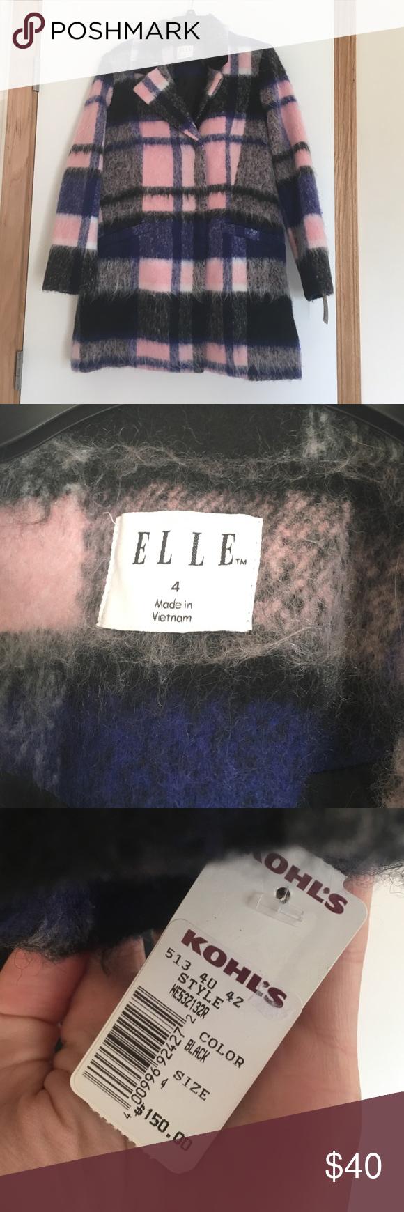 Elle patterned peacoat NWT Elle patterned peacoat for Fall! Elle Jackets & Coats Pea Coats