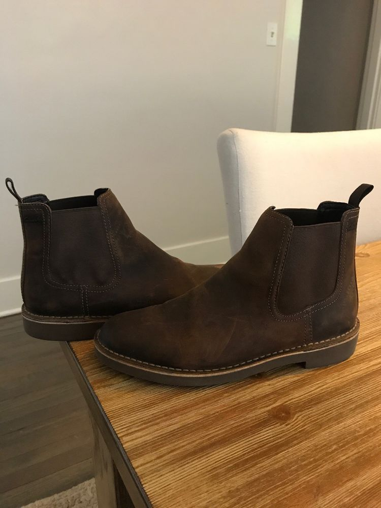 CLARKS Men's Chelsea Boot Beeswax Leather Size US 10