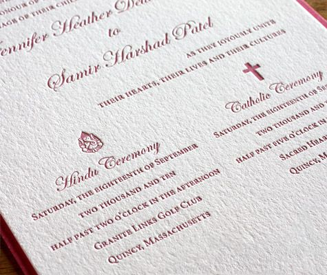 Oversize invitations are especially useful for couples with two - gala invitation wording