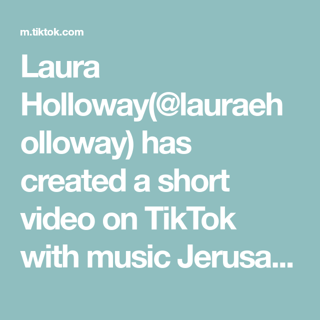 Laura Holloway Lauraeholloway Has Created A Short Video On Tiktok With Music Jerusalema Feat Nomcebo Zikode Edit We Re O Music Music City The Originals