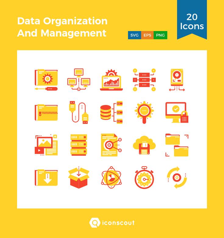 Download Data Organization And Management Icon Pack Available In Svg Png Eps Ai Icon Fonts Organization And Management Icon Pack Downloading Data