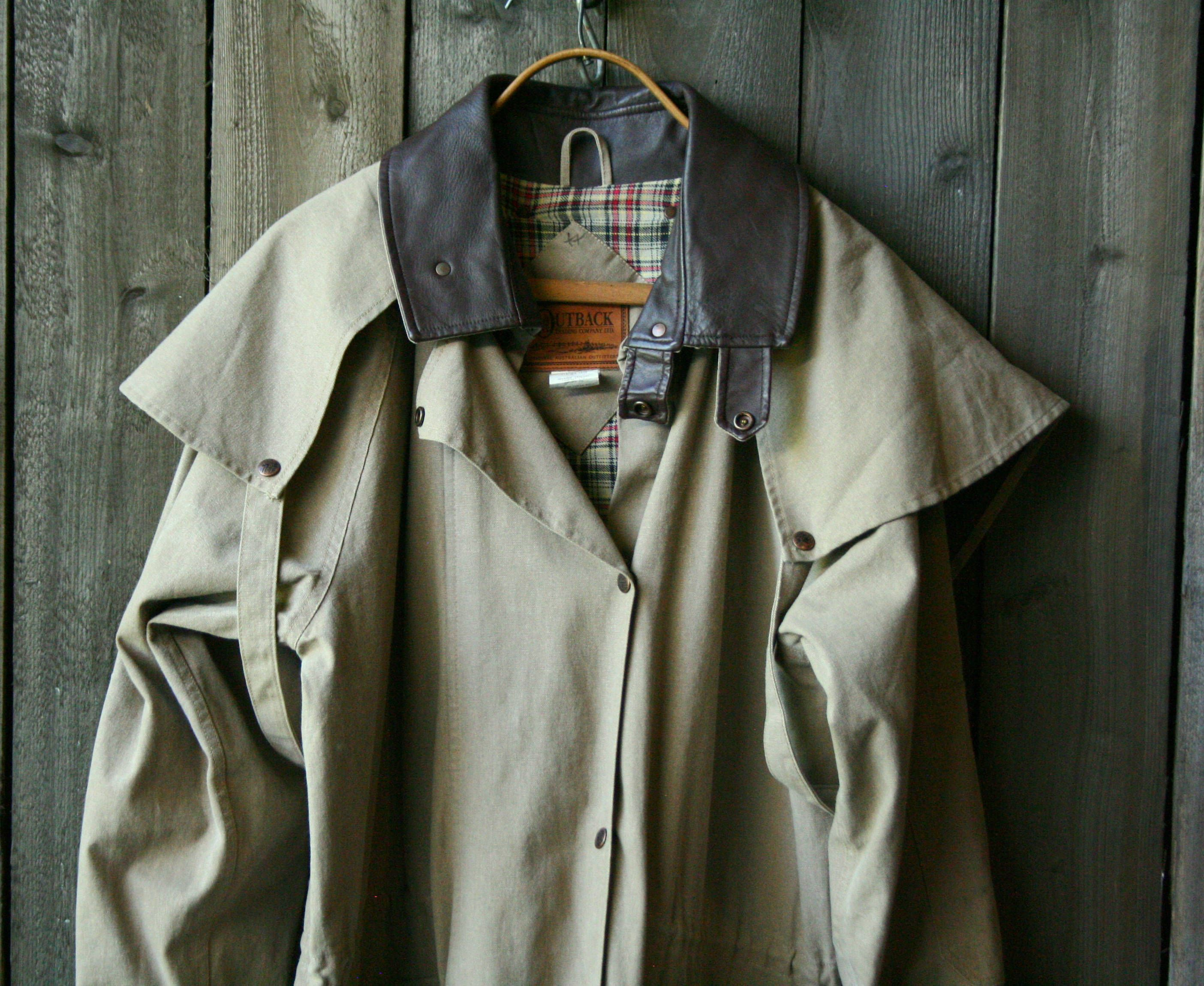 Mens Outback Rugged Trench Coat/ Ranch Style / Australian