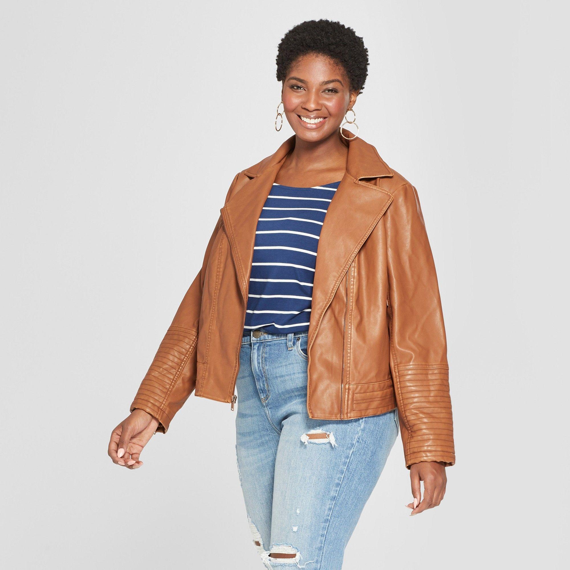 Women's Plus Size Faux Leather Moto Jacket Ava & Viv</p>                     </div>   <!--bof Product URL --> <!--eof Product URL --> <!--bof Quantity Discounts table --> <!--eof Quantity Discounts table --> </div>                        </dd> <dt class=