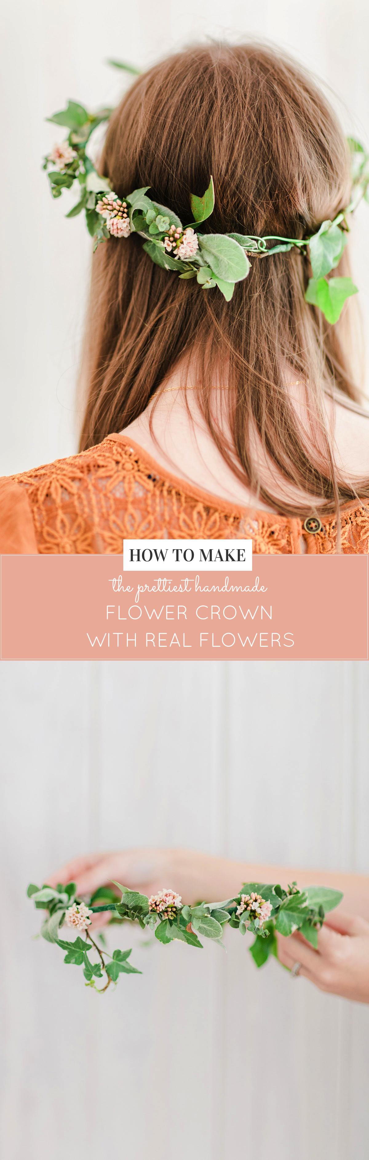 How to Make a Real Flower Crown | DIY flower crown | flower crown tutorial | easy flower crown tutorial | DIY beauty ideas || Glitter, Inc.