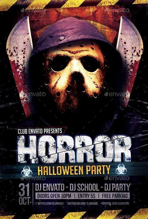 Horror Biohazard Halloween Party Flyers ffflyer – Halloween Party Flyer