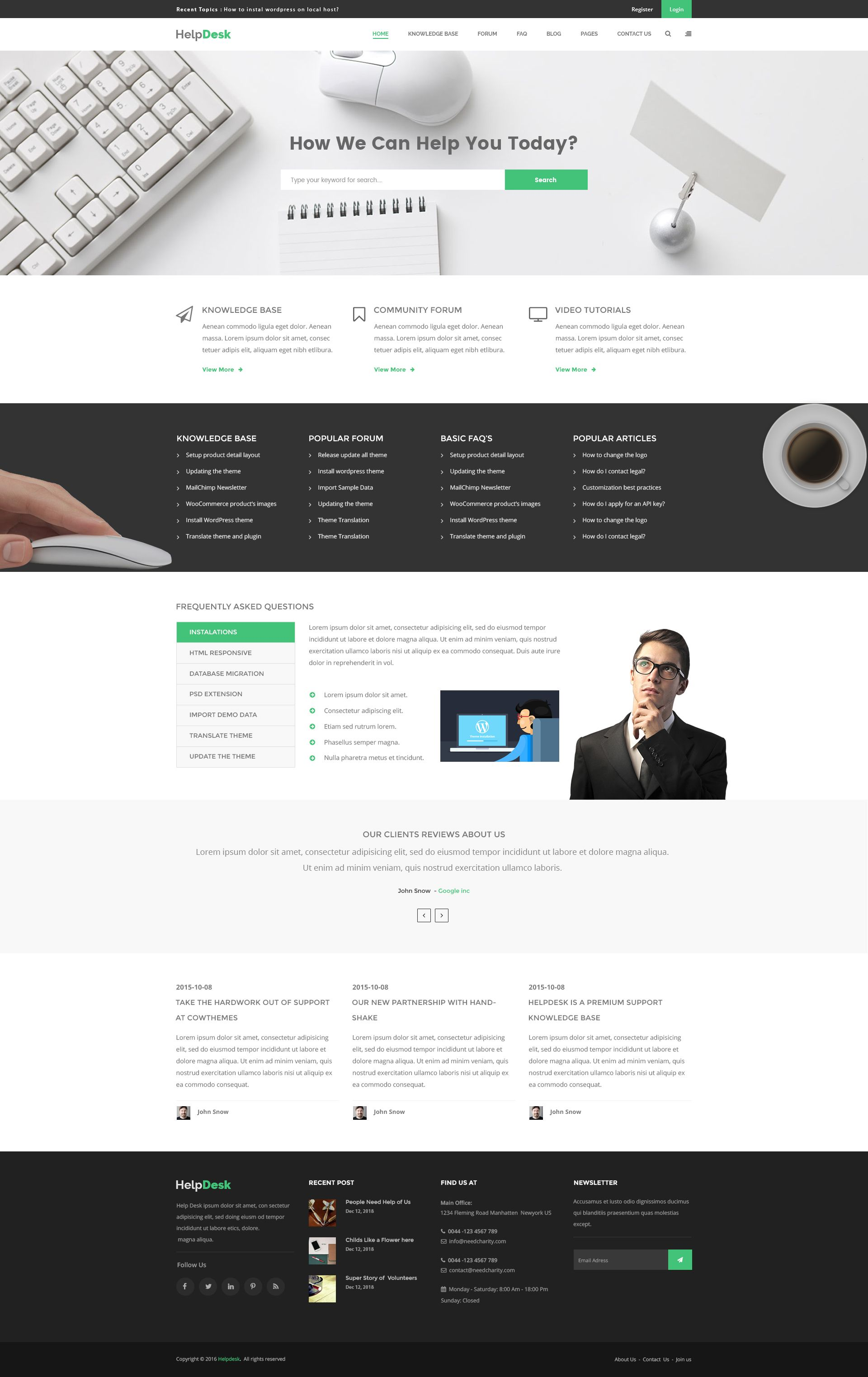 Helpdesk Is A Modern And Unique Psd Template Designed For Knowledge