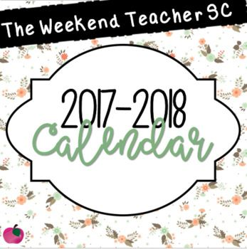 You are going to absolutely LOVE this 2017-2018 Calendar! Each month