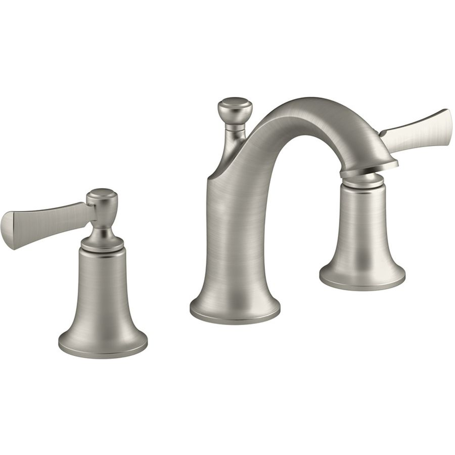 Shop Kohler Elliston Vibrant Brushed Nickel 2Handle Widespread Gorgeous Brushed Nickel Bathroom Faucets Design Decoration