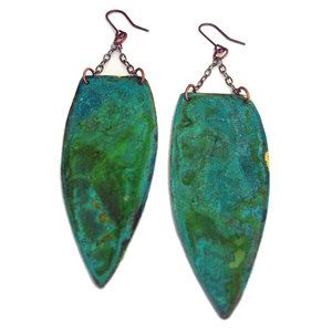 Patina Earrings now featured on Fab.