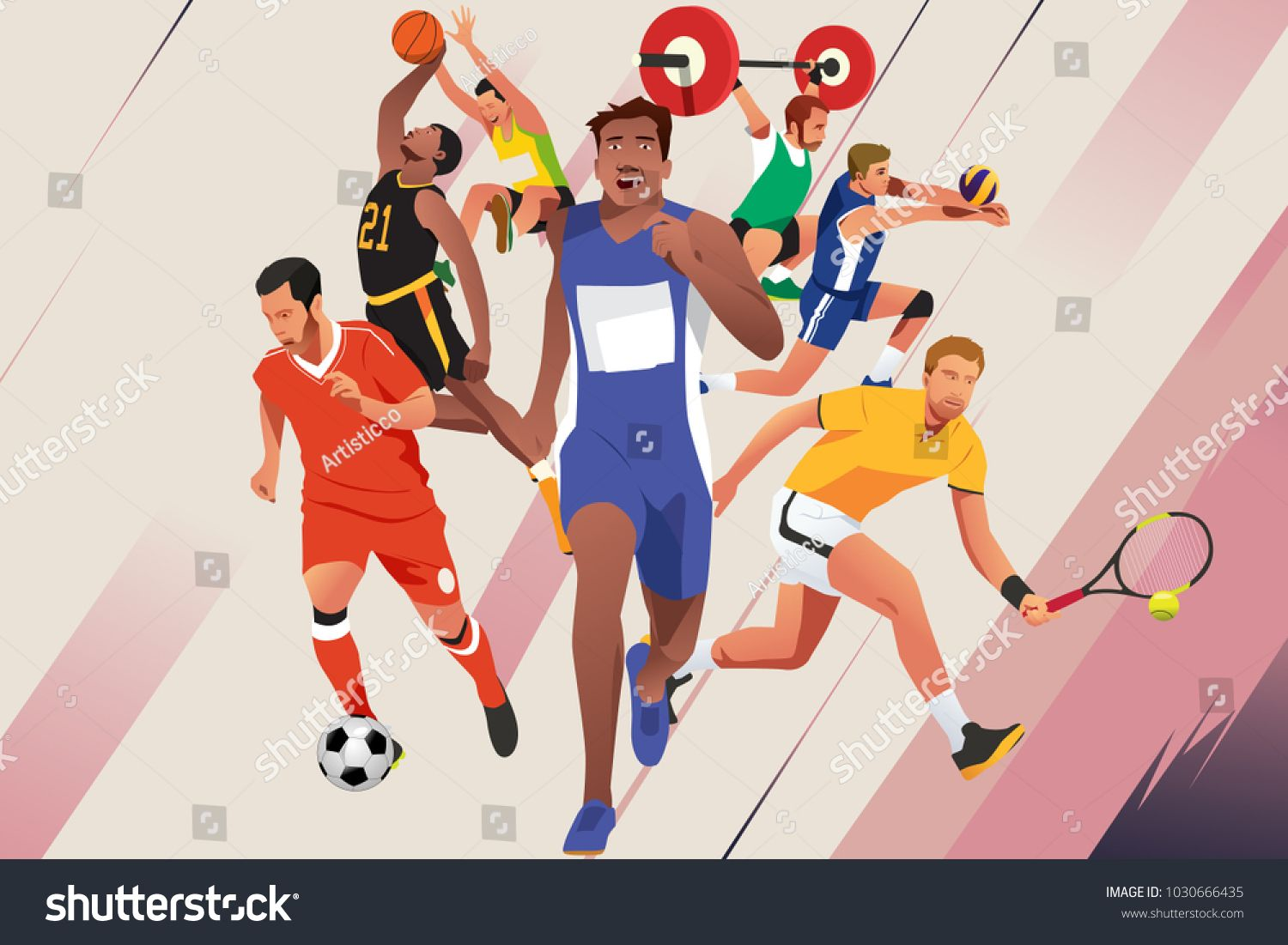 A Vector Illustration Of Athletes In Different Sports Poster Ad Affiliate Illustration Vector Athletes Poster Sport Poster Different Sports Fitness Logo