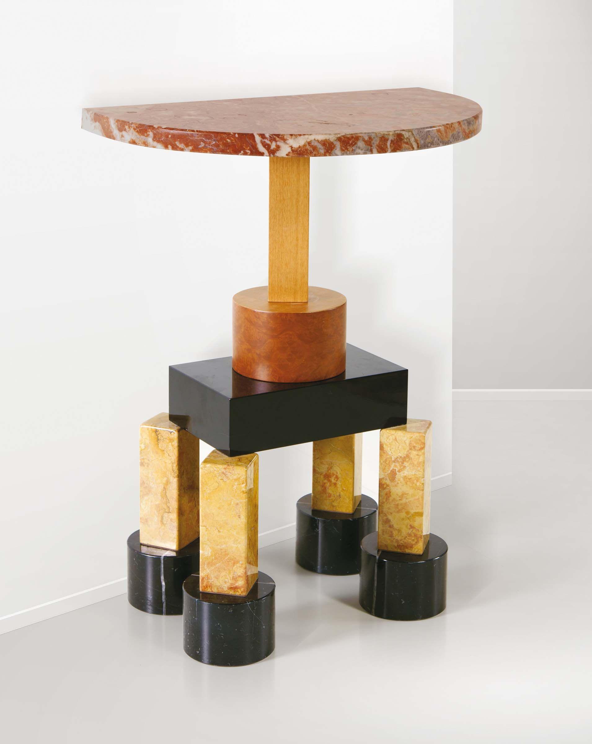 memphis design furniture. Ettore Sottsass, Consolle Demistella In Marmo E Legno, Prod. Italia, 1990 Ca. Furniture DesignUp And UpMemphis Memphis Design