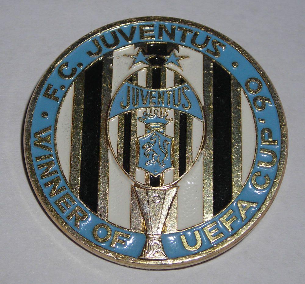 DISTINTIVO JUVENTUS CALCIO COPPA UEFA 1990 ATTACCO SPILLA DA BALIA ...