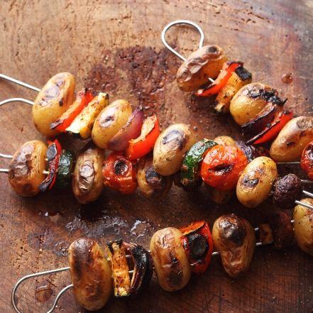Kartoffel-Gemüse-Spieße #marinadeforbeef