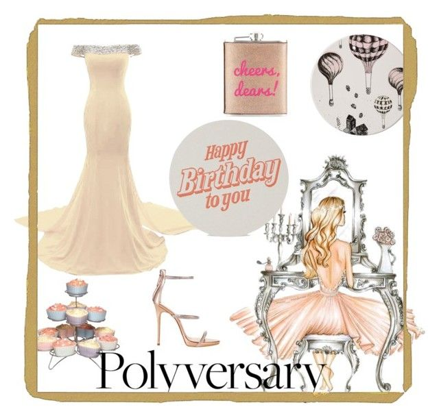 """Polyversary"" by quinitab on Polyvore featuring Sweetly Does it, Giuseppe Zanotti, Bloomingville, Neiman Marcus and Marby & Elm"