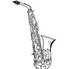 Saxophone Coloring Page Coloring Page Musical Coloring Pages