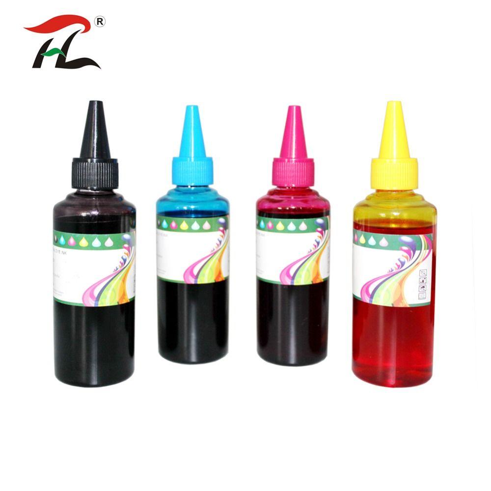 Acquistare 400 Ml Bottiglia Di Ricarica Universale Kit Inchiostro Fast Print Black 100ml Dye Based Photo Premium Epson Della Tintura Per Canon