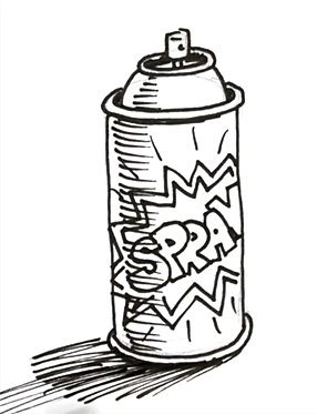 spray paint coloring pages - photo#16