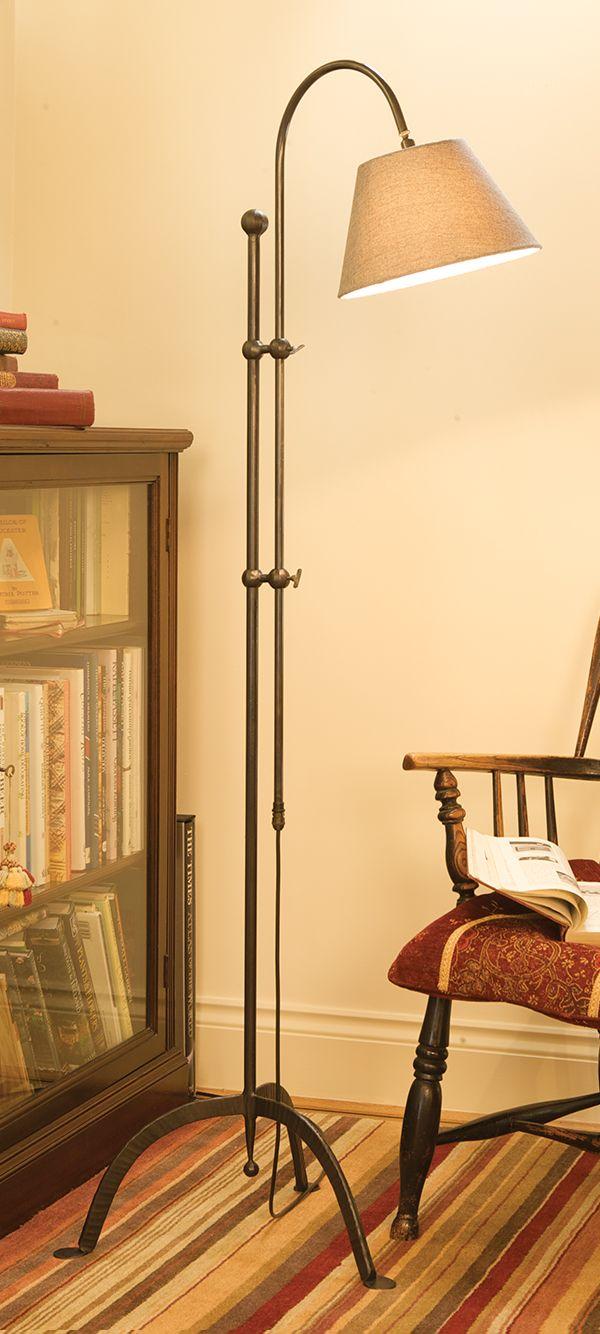 Handforged wrought iron Silkstone standard lamp by Nigel Tyas ...