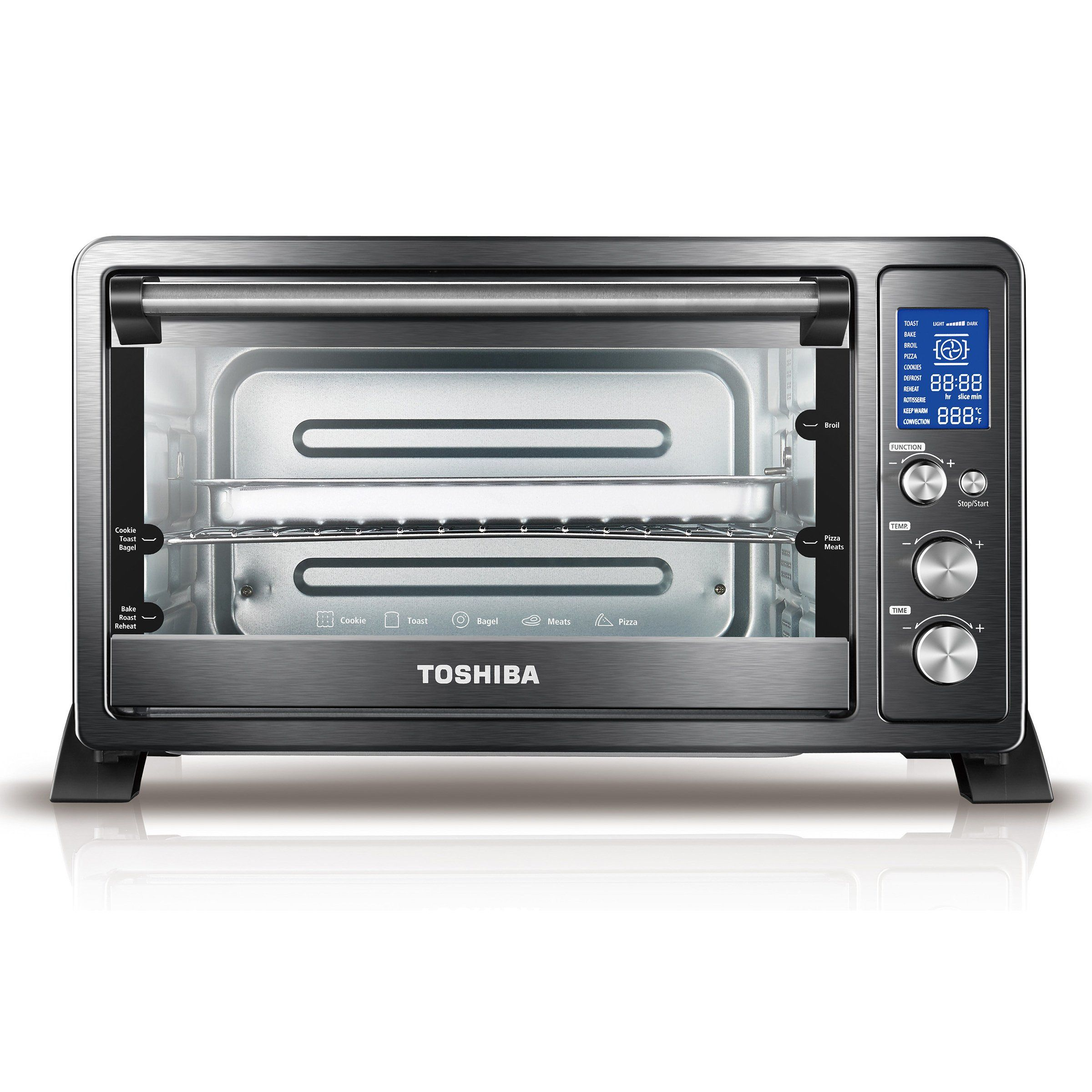 Toshiba Convection Toaster Oven Black Stainless Steel Black