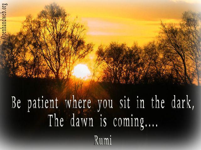 Patience Simple Truths Common Wisdom Pinterest Rumi