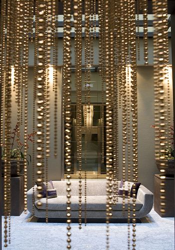 Bead Curtain...i Like The Metallic And The Different Lengths