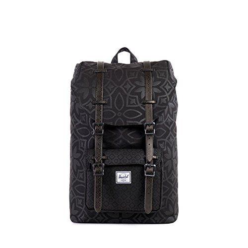 100d2249e94 Herschel Supply Co. Little America Mid-Volume Laptop Backpack (Black Khatam  Herschel Supply