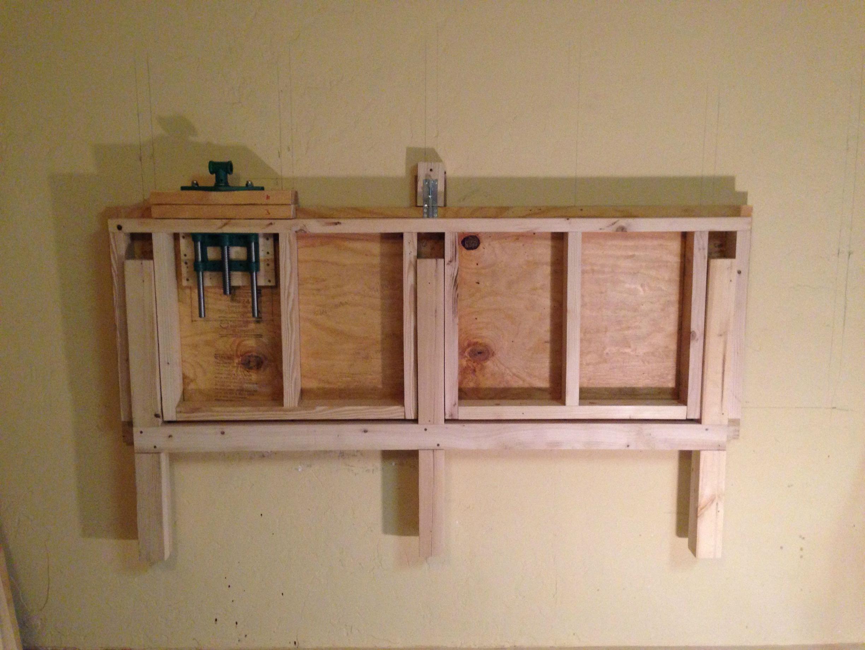 Fold Down Workbench Plans Garage