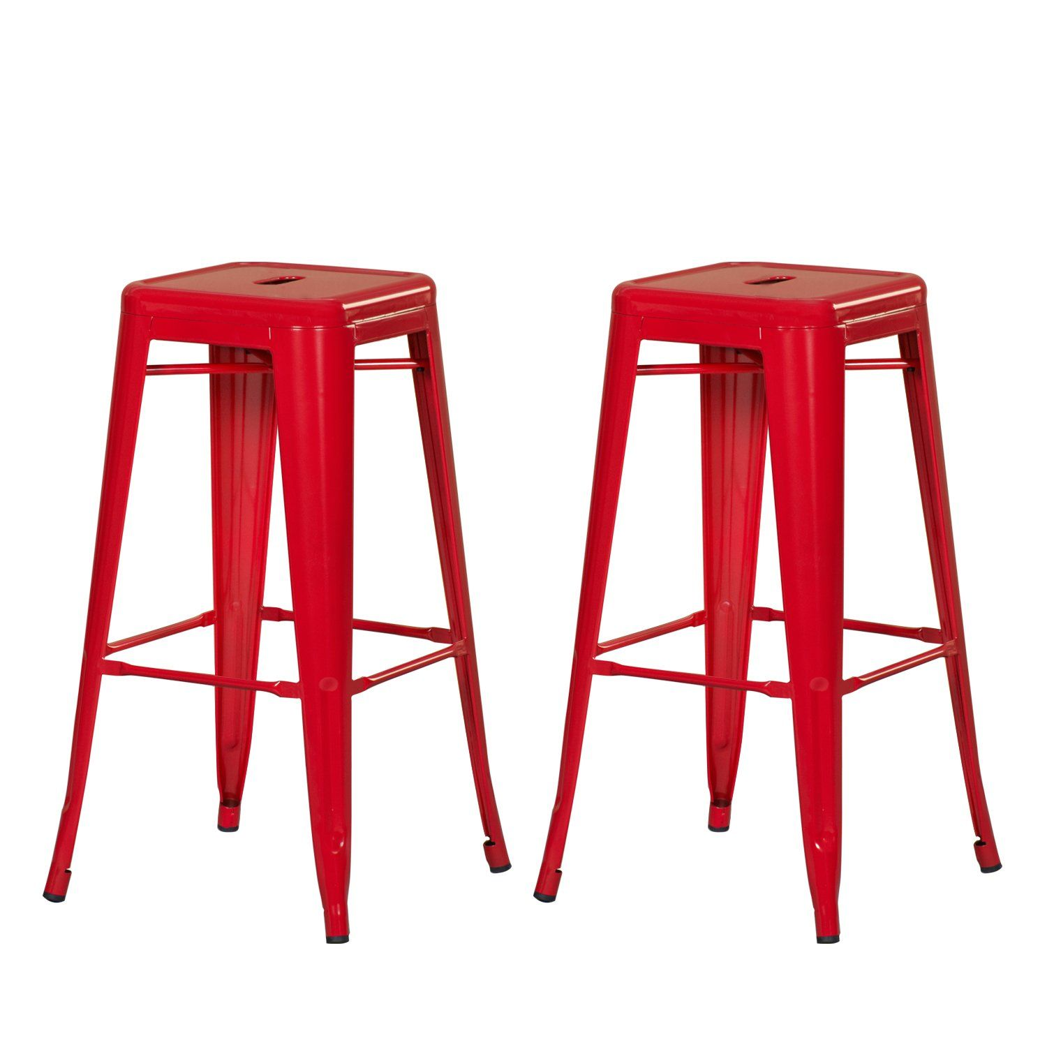 Lyon Fixed Height Industrial Stool Without Back 30 Seat Height