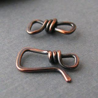 by Rocki Adams: Artisan Clasp Findings - Square Hook