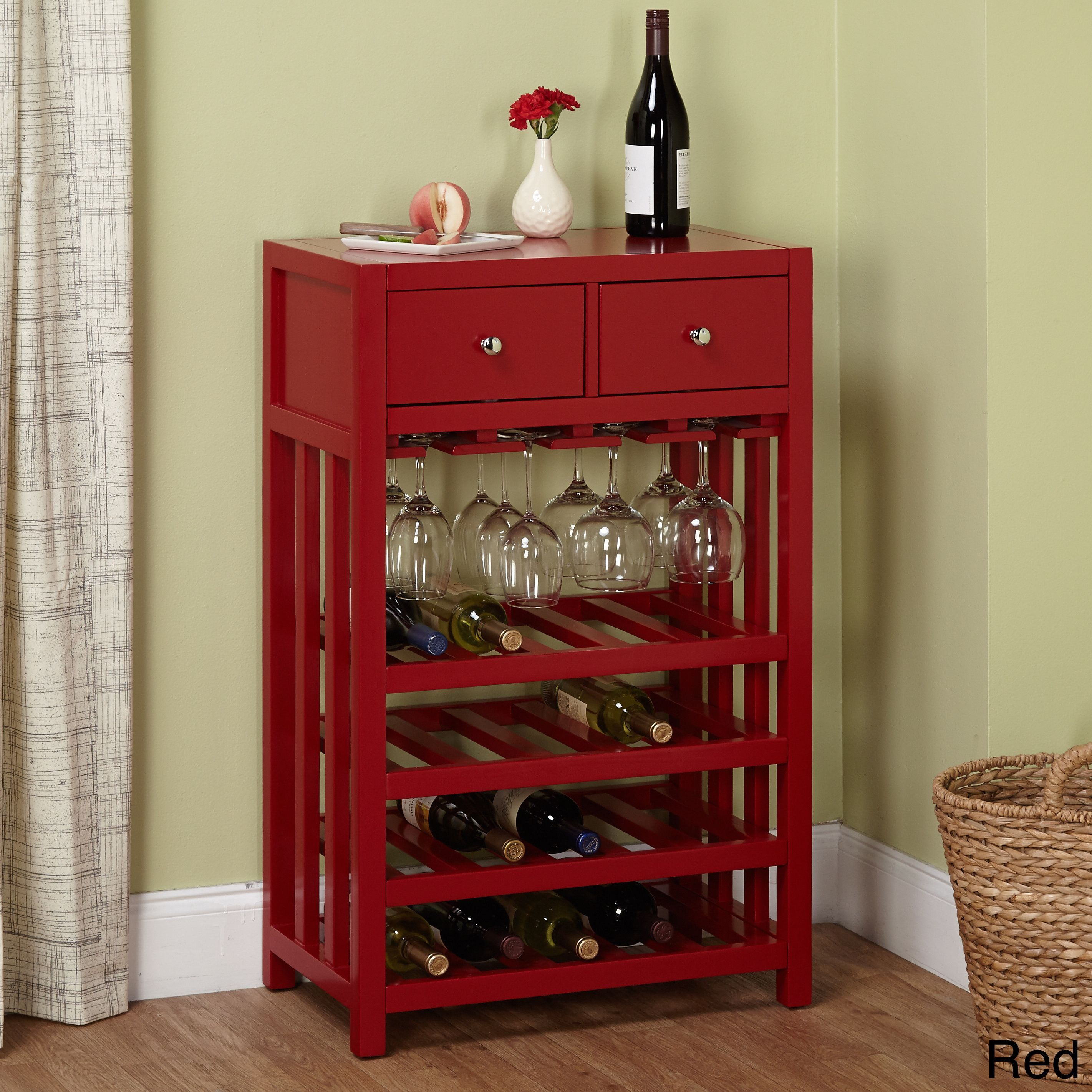 Simple Living Napa Wood 20 Bottle Wine Tower Red Black Wine Cabinets Wine Storage Wood Wine Racks