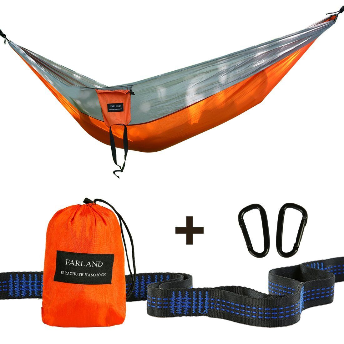 amazon    outdoor camping hammock with 10ft 16 loop tree straps by farland amazon    outdoor camping hammock with 10ft 16 loop tree straps      rh   pinterest